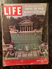 Life Magazine August 26, 1957. Hearst Castle San Simeon, Alpine Tragedy. Hearst.