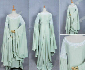The Lord of the Rings Cosplay Arwen Green Dress Costume