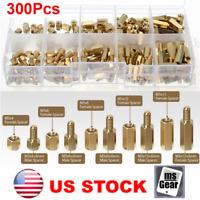 300Pcs M3 Male-Female Brass Screw Hex Column Standoff Spacer PCB Assortment Kit