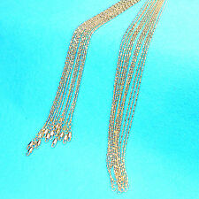 10PCS 16-30inches Wholesale Jewelry 18K GOLD FILLED Column Ball Chains Necklaces