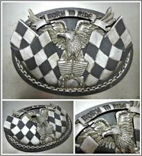 Motorcycle Rider Biker Born To Ride Eagle Engine Wall Decor Art Plaque Sign 9X6