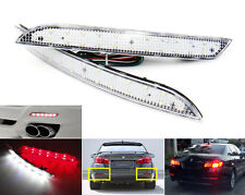 2x Clear Lens LED fOR BMW F10 F11 Bumper Reflector Backup Tail Brake Stop Light