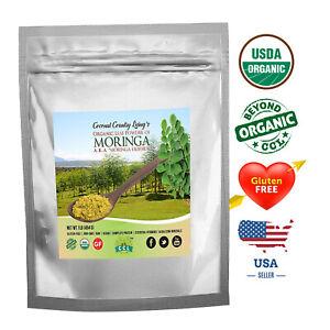 Moringa Leaf Powder USDA Organic Raw 2 lb – Premium, Nutrient Dense Super Green