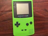 Nintendo Game Boy Color in Lime Green - Model CGB-001 W/ 3 games