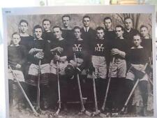 1913 YALE HOCKEY TEAM ENLARGED 16 X 20 PHOTO, NEW HAVEN, CONNECTICUT