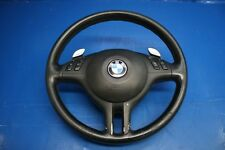 BMW E46 OEM Black 3 Spoke Steering Wheel & Airbag & Paddle Shifters (SMG)