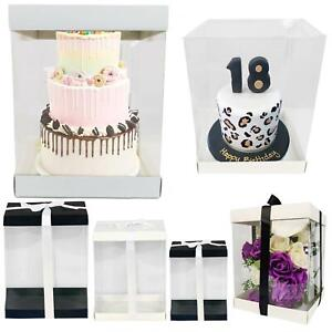 Extra Large Clear PVC Box - Tall Hat Display Rose Bear Cake Boxes