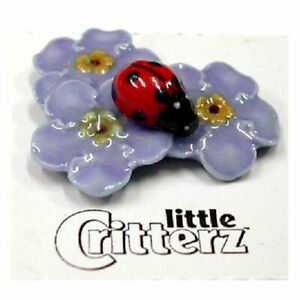 ➸ LITTLE CRITTERZ Insect Miniature Figurine Ladybug Forget Me Not