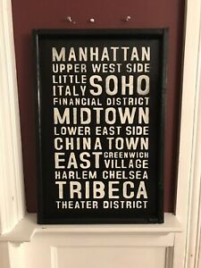 Rustic New York City Sign