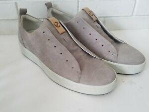 Ecco Soft  Grey Suede Lace Up Sneaker Men's Size 13-13.5 Eur 47
