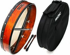 "DEURA 18"" ROSEWOOD TUNABLE Bodhran DRUM WITH BAG AND 2 Beaters Tippers"