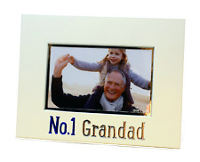 NEW Boxed No. 1 Grandad Photo Frame 6x4 Gift Freestanding Landscape Picture Gift