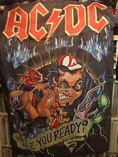 AC/DC rare TEXTILE POSTER FLAG  metal heavy ozzy dio motorhead metallica t shirt