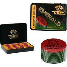 Tiger Emerald Pool Cue Tips  - Tiger QTY 12 - FREE SHIPPING 002031