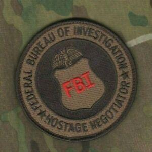 FBI SERVARE VITAS HOSTAGE NEGOTIATOR Desert Sand HRT velkrö burdock INSIGNIA