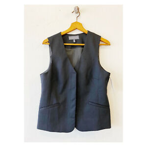 New American Airlines 8 R Twinhill Vest Uniform Charcoal Gray Womens
