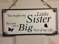 Friend Friendship Plaque Sign funny gift Little Sister Big Part love family