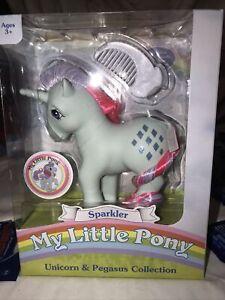 "Sparkler Unicorn  My Little Pony Collection Retro Pony 5"" Rare Pink Tail Error"