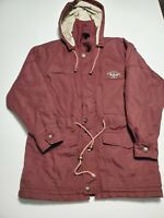 Vintage Playboy Burgundy Adjustable Hooded Jacket Size 46