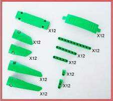 132 Brand New Lego Technic Bright Green Panels Liftarms and connectors 42039