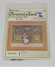 Vintage Vogart Crafts Personal Touch Stitchery 1977 Bar & Grill # 2536 14x17""