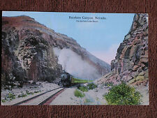 Rainbow Canyon Nv/Salt Lake Route Steam Locomotive Pasenger Train/Color Photo Pc