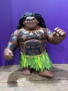 "Disney Jakks Pacific MOANA Mega Maui 16"" Talking Figure Toy Doll No Hook Works"
