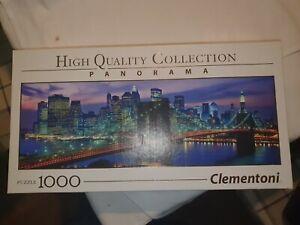 1000 piece jigsaw puzzles Clementoni, New York Brooklyn Bridge - Complete