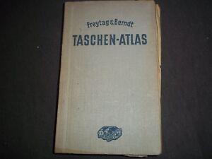 1938 FREYTAG & BERNDT TASCHEN ATLAS - COLOR MAPS - GERMAN - KD 727W