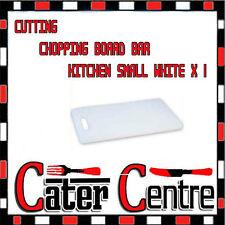 CUTTING/CHOPPING BOARD BAR/KITCHEN SMALL WHITE X 1 - 250 x 150 x 12mm