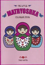 Russische Puppe (Matrjoschka) Malbuch - Russian doll  Colouring Book