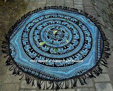 Elefant Mandala Indischer Wand Hängende Runden Tischdecke Wanddekor-Wandkunst