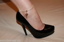 Sexy Euro Anklet Ankle Chain Jewellery Keyring Keyholder Mistress Cuckold Sissy