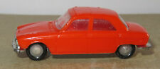 F old made in france 1966 micro norev oh 1/87 peugeot 204 orange #532