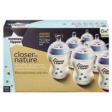Tommee Tippee Closer to Nature 260ml Six-pack Easivent Bottles
