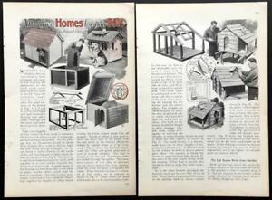 Dog House design PLANS 1932 HowTo Build INFO Ideas Wood construction - Barrel