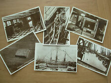JOB LOT COLLECTION OF 6 POSTCARDS H.M.S. VICTORY