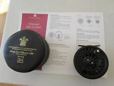 """excellent hardy viscount disc LA 5/6 trout fly fishing reel 3 & 3/8ths"""" + case"""