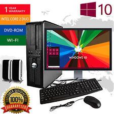 """Dell Desktop PC Computer 19"""" LCD Windows 10 Core 2 Duo 8GB 250GB HD FAST WIN PC"""