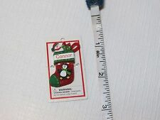 Itsy Bitsy Stocking Ornament name Connor mini Ganz personalized Christmas gift