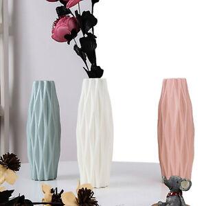 Nordic Style Plastic Vase Shatter-proof Imitation Ceramic Flower Pot Home Decor