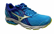Mizuno Women's Wave Inspire 14 Running Athletic Shoes Blue White Yellow Size 6