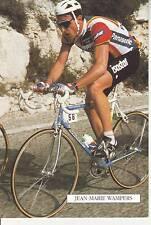 CYCLISME carte cycliste JEAN MARIE WAMPERS équipe PANASONIC ISOSTAR 1989