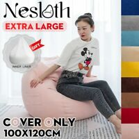 Bean Bag 100*120 cm Soft Chair Couch Sofa Cover Indoor Lazy Sofa For Adults