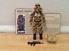 Vintage 1985 GI Joe Cobra Dusty Near Complete Figure File Card