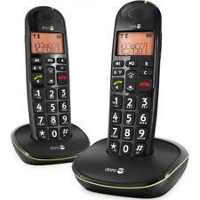 Doro PhoneEasy 105wr Duo Telefono cordless con parte mobile + guscio di carica NERO