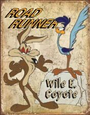 Wile E. Coyote & Road Runner TIN SIGN Metal Vintage Looney Tunes Cartoons Poster