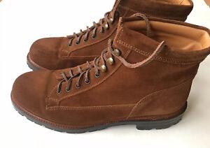 Ralph Lauren Purple Label Suede Plain Toe Alpine Hiking Boot Size 11.5 D $1400