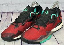 ADIDAS CRAZYLIGHT BOOST LOW Sneakers Men's Red Turquoise Shoes AQ7761 Size 12
