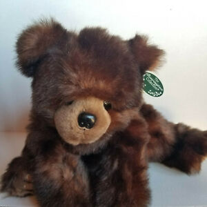 BEARINGTON COLLECTION Huggy Ben - Dark Brown Plush Bear - 18in - With Tags